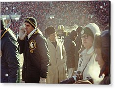Vince Lombardi On The Sideline Acrylic Print by Retro Images Archive