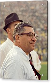 Vince Lombardi Surveying The Field Acrylic Print