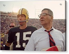Vince Lombardi With Bart Starr Acrylic Print by Retro Images Archive
