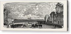 Vincennes. Castle Courtyard From The South Acrylic Print by Litz Collection