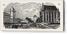 Vincennes Castle Courtyard Acrylic Print by Litz Collection