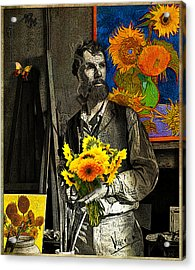 Vincent Painting For Gauguin In Arles August 1888 Acrylic Print