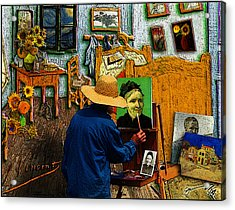 Vincent Painting A Portrait Of His Mother Acrylic Print