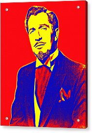 Vincent Price Acrylic Print by Art Cinema Gallery