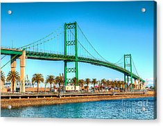 Acrylic Print featuring the photograph Vincent Thomas Bridge by Jim Carrell