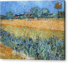 Field With Flowers Near Arles Acrylic Print by Vincent van Gogh