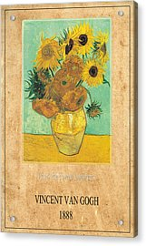 Vincent Van Gogh 2 Acrylic Print by Andrew Fare