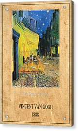 Vincent Van Gogh 3 Acrylic Print by Andrew Fare