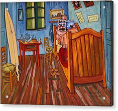 Vincents Bedroom In Arles For Surfers-amadeus Series Acrylic Print by Dominique Amendola