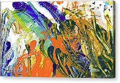 Acrylic Print featuring the painting Vincent's Birds by Ron Richard Baviello