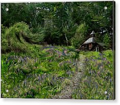 A Lupine Tale  Vincents View Acrylic Print