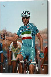 Vincenzo Nibali Painting Acrylic Print by Paul Meijering