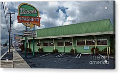 Vinces Speghetti Acrylic Print by Gregory Dyer