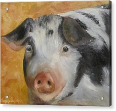 Vindicator Pig Painting Acrylic Print by Cheri Wollenberg