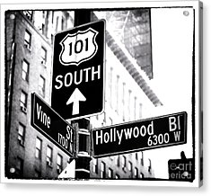 Vine And Hollywood Acrylic Print by John Rizzuto