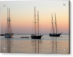 Acrylic Print featuring the photograph Vineyard Harbor Sunrise by Dan Myers