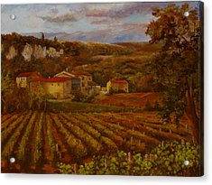 Acrylic Print featuring the painting Vineyard by Rick Fitzsimons