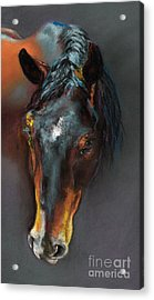 Vinnie Mustang Love Acrylic Print by Frances Marino