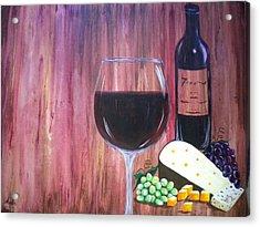 Vino Acrylic Print by Abigail Avila