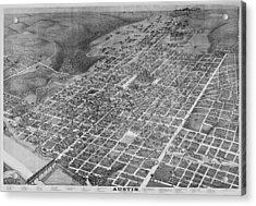 Vintage 1887 Austin Texas Map Acrylic Print by Stephen Stookey