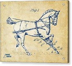 Vintage 1900 Horse Hobble Patent Artwork Acrylic Print by Nikki Smith