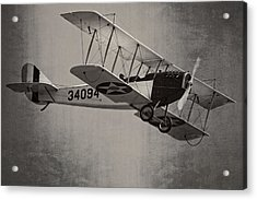 Vintage 1917 Curtiss Jn-4d Jenny Flying  Acrylic Print