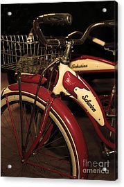Vintage 1941 Boys And 1946 Girls Bicycle 5d25760 Vertical Sepia2 Acrylic Print