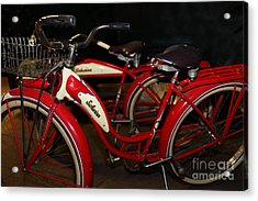 Vintage 1941 Boys And 1946 Girls Bicycle 5d25760 Acrylic Print by Wingsdomain Art and Photography