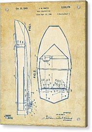 Vintage 1943 Chris Craft Boat Patent Artwork Acrylic Print