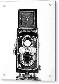 Vintage 1950s Yashica 635 Camera Acrylic Print by Jon Woodhams