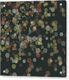 Vintage Abstract 3d Cube Background Pattern Acrylic Print by FrankRamspott