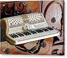 Vintage Accordion Acrylic Print by Chris Anderson