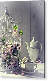 Vintage Afternoon Tea Acrylic Print by Amanda Elwell