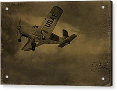 Vintage Air Force Flight World War Two Acrylic Print by Dan Sproul