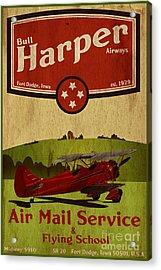 Vintage Air Mail Service Acrylic Print