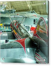 Vintage Airplane Comparison Acrylic Print by Susan Garren