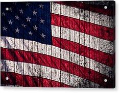 Vintage American Flag Acrylic Print by Leslie Banks