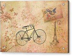 Vintage April In Paris Acrylic Print
