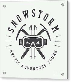 Vintage Arctic Mountaineering Logo Acrylic Print
