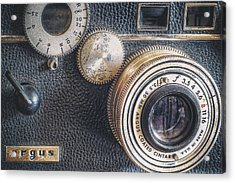 Vintage Argus C3 35mm Film Camera Acrylic Print by Scott Norris