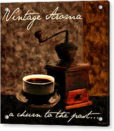 Vintage Aroma Acrylic Print by Lourry Legarde