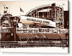 Vintage Astroland Park Acrylic Print by John Rizzuto
