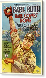 Vintage Babe Comes Home Movie Poster Acrylic Print