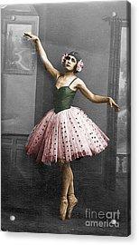 Vintage Ballerina  Acrylic Print by Lyric Lucas