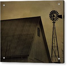 Vintage Barn And Windmill Acrylic Print by Dan Sproul