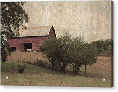 Vintage Barn Scene Acrylic Print