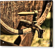 Vintage Barrel Tap Acrylic Print by Paul Ward