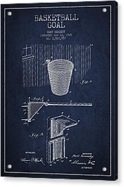 Vintage Basketball Goal Patent From 1925 Acrylic Print