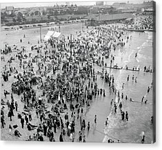 Vintage Beach Scene Acrylic Print by MMG Archives