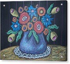 Vintage Blooms Acrylic Print by Karla Gerard